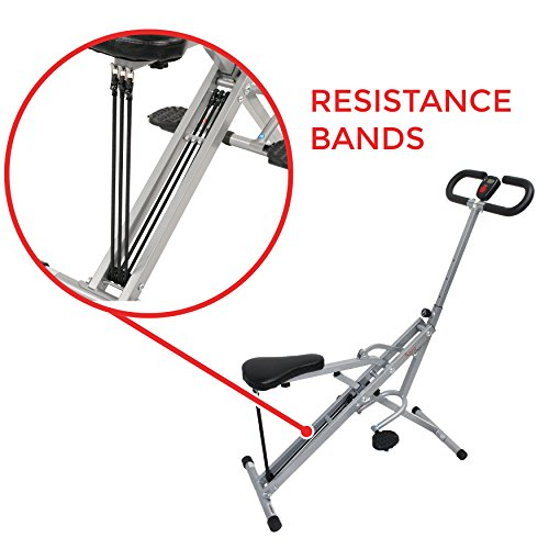 Sunny Health & Fitness Squat Assist Row-N-Ride Trainer for Squat Exercise and Glutes Workout by Sunny Health & Fitness (Image #4)