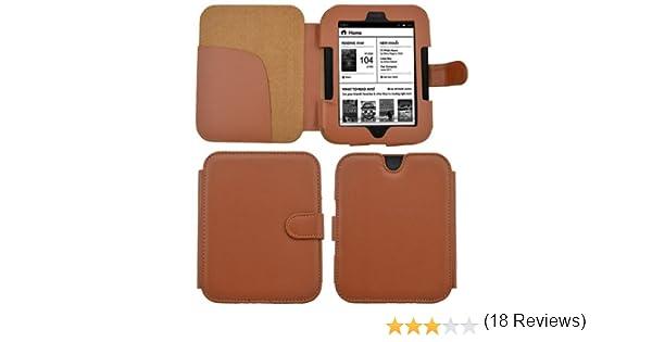 Premium Funda de Cuero Cubierta magnética para eReader Nook Simple ...