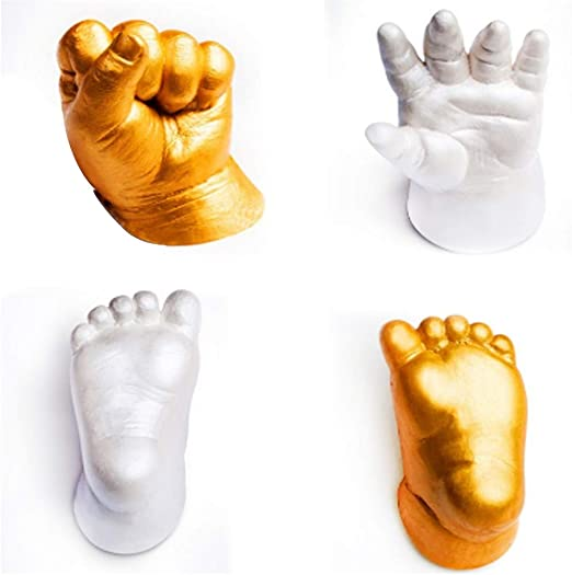 3D Handprint Footprint Baby Mould DIY Plaster Hand Foot Casting Print Kit Cast
