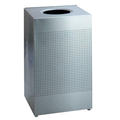 - Rubbermaid Commercial Silhouette Designer Wastebasket, Square Open Top, 50-Gallon, Silver Metallic (FGSC22ERBSM)