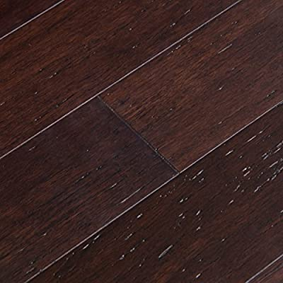 Cali Bamboo - Solid Click Bamboo Flooring, Vintage Java Dark Brown - Sample