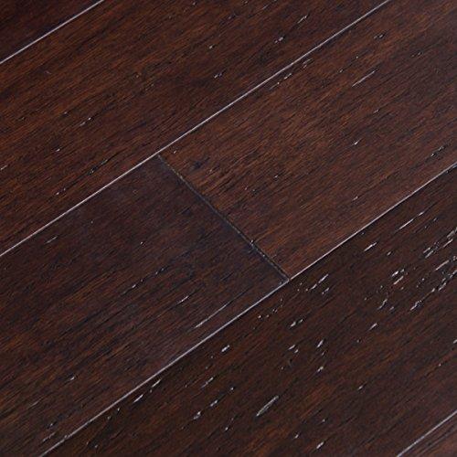 Dark Wood Flooring (Cali Bamboo - Solid Click Bamboo Flooring, Vintage Java Dark Brown - Sample)