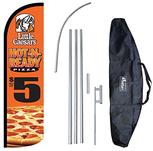 little-caesars-hot-n-ready-12-foot-king-size-complete-swooper-feather-flag-and-case-setincludes-12-f
