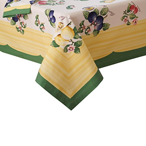 Villeroy and Boch French Garden Cotton Fabric Tablecloth, 68