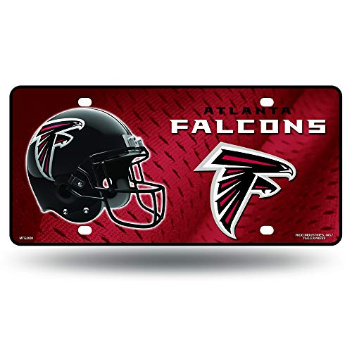NFL Atlanta Falcons Metal License Plate Tag