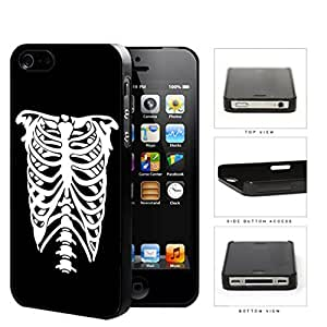 Rib Cage Skeleton Black And White Hard Plastic Snap On Cell Phone Case Apple iPhone 4 4s