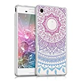 kwmobile Crystal TPU Silicone Case for Sony Xperia M4 Aqua in Design Indian sun blue dark pink transparent