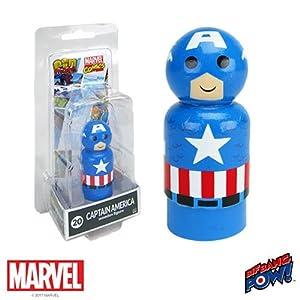 Bif Bang Pow! Captain America Pin Mate Wooden Figure