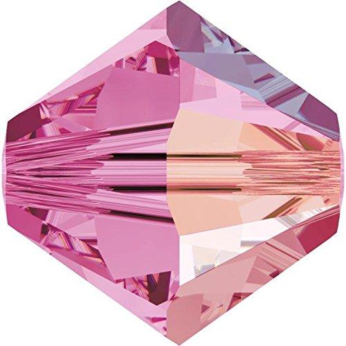 SWAROVSKI Crystal Xilion Bicones/Beads 5328 6mm ROSE AB Pack of 20 Wholesale Genuine Supplied by SWAROVSKI RETAILER ()