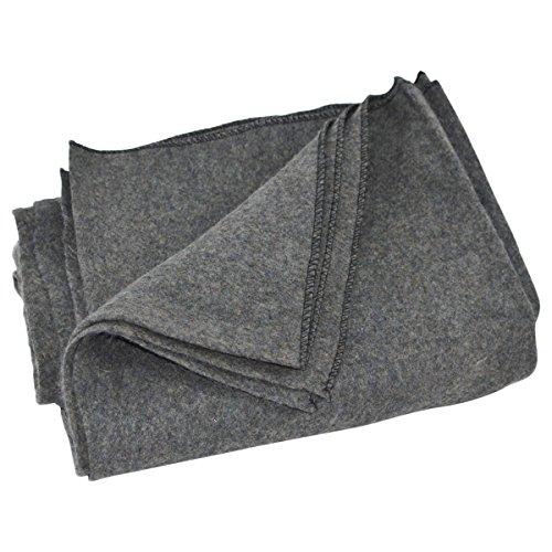 Large Gray Wool Army/Military Type Blanket Surplus Style Emergency/Survival Gear Grey Wool Blanket
