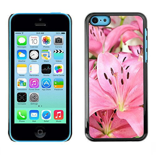 Premio Sottile Slim Cassa Custodia Case Cover Shell // V00001770 Fleurs Lily // Apple iPhone 5C