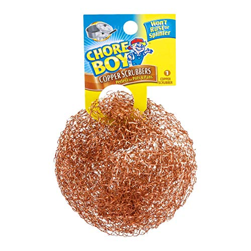 - Chore Boy 811435002145 Copper Scouring Pad (Pack of 10), Scrubber