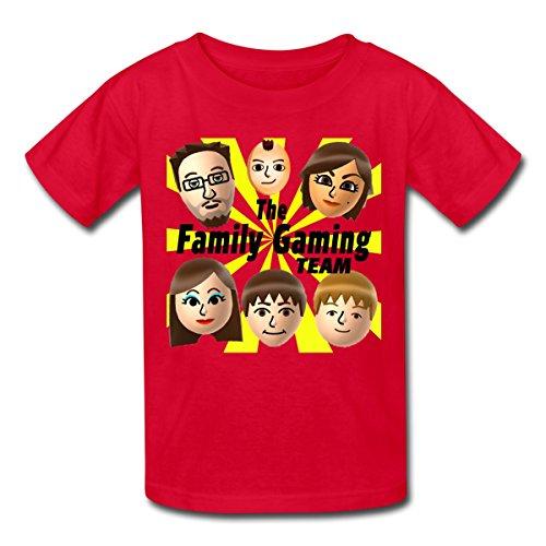 Spreadshirt FGTeeV The Family Gaming Team Kids' T-Shirt, M, Red