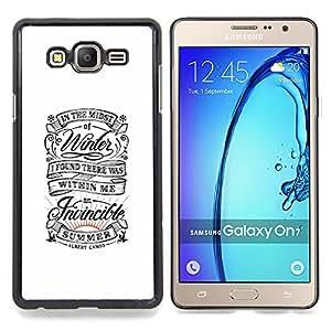 "For Samsung Galaxy On7 O7 Case , Blanco retro vintage Inspiring verano"" - Diseño Patrón Teléfono Caso Cubierta Case Bumper Duro Protección Case Cover Funda"