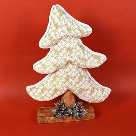 Addobbi Natalizi Amazon.Christmas Presents Albero Di Natale Inclinato Realizzato In Tessuto Oro Altezza 41cm Decorazioni E Addobbi Natalizi Amazon It Casa E Cucina