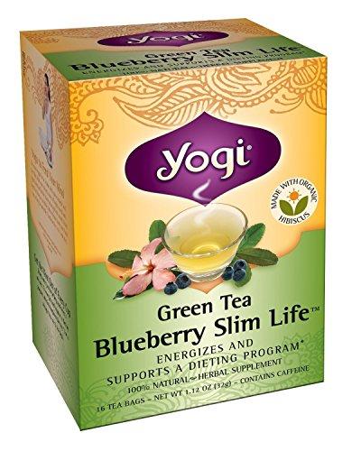 Yogi Tea Green Tea Blueberry Slim vie, un supplément de plantes, sachets de thé, 16 ct