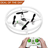 Super Durable Nano Drone Space Trek UFO RC Quadcopter 2.4GHz 4 Axis Gyro RC Aircraft Protective Bull bars Mini Helicopter for Beginners/Children with 3D Flip Flash Light by MakeTheOne