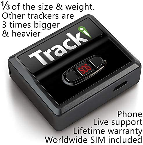 Tracki 2020 Model Mini Real time GPS Tracker. Full USA Worldwide Coverage. For Vehicles, Car, Kids. Magnetic Hidden small Portable Tracking Device. Child, elderly, Dog pet drone motorcycle bike auto