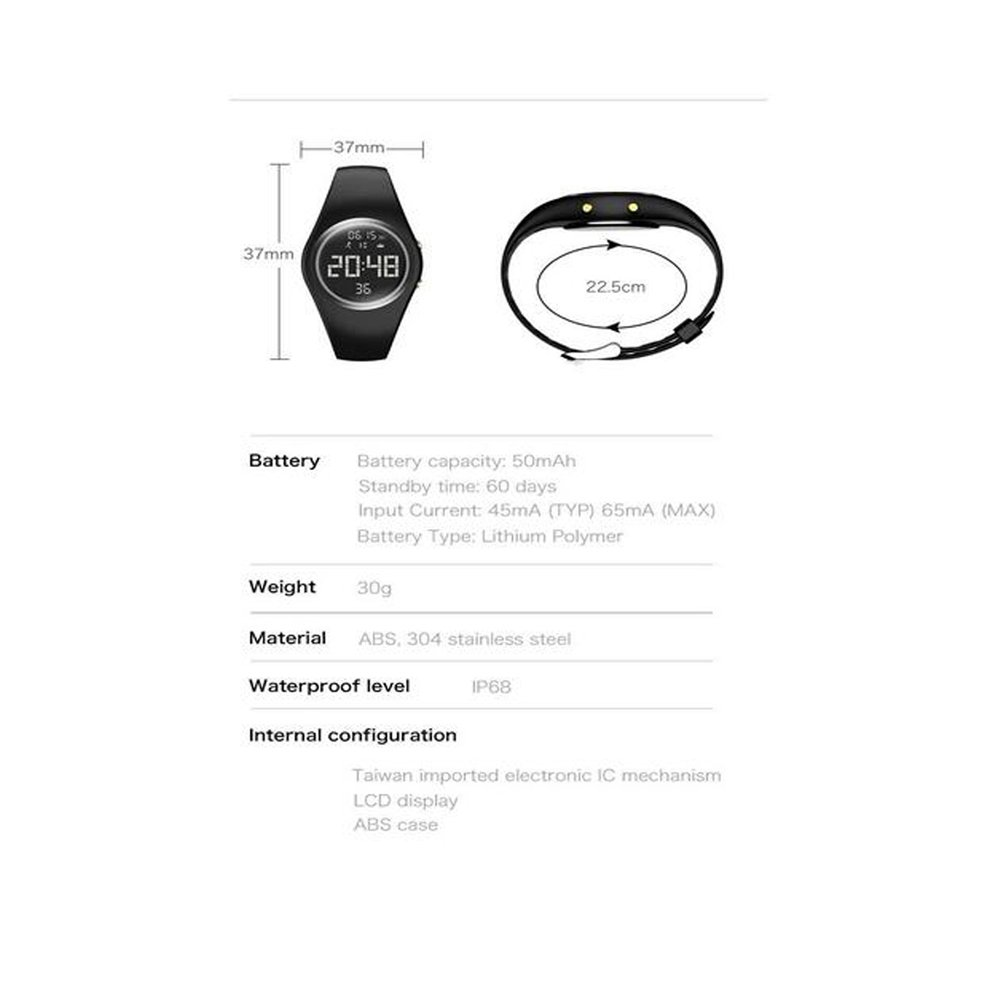 Multi-Function Sleep Monitor Calories and Alarm Clock. Display with Timing Ann Bully Kids Smart Watches Distance 2in1 Detachable Lightweight Waterproof 3D Pedometer Sports Bracelet Steps