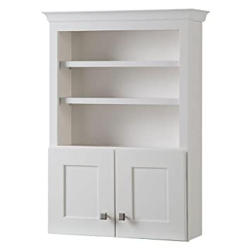 bathroom wall storage cabinet in classic white creeley 27 in w features adjustable shelves - Bathroom Wall Storage Cabinets
