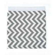Sweet Potato Swizzle Crib Skirt, Grey/White, Twin