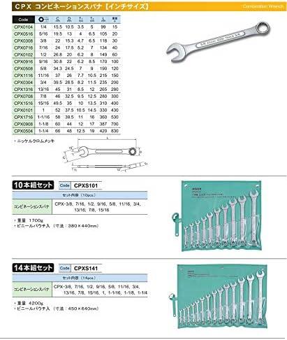 ASH パネル型コンビネーションスパナ1/4 CPX0104