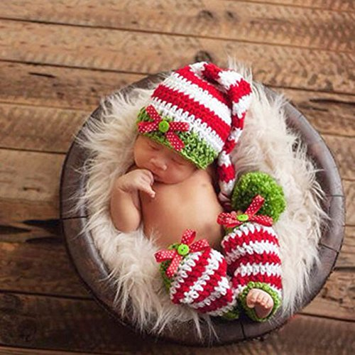 Rhumen Baby Photography Prop Christmas Baby Newborn Handmade Clothes by Rhumen (Image #6)