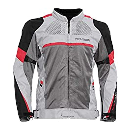 TVS Polyester Riding Jacket – Level 2 (Red Line, XL)