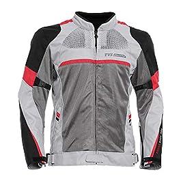 TVS Polyester Riding Jacket – Level 2 (Red Line, Medium)