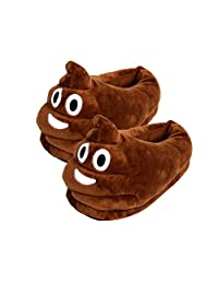 Plush House Slippers, Women's Men Emoji Soft Comfy Cute Cartoon Winter Warm Indoor Home Slippers Bootie