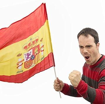 Eurowebb bandera español con barra – Flag España Aficionado: Amazon.es: Electrónica