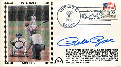 - Pete Rose Autographed First Day Cover
