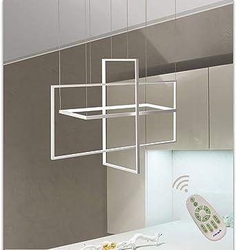 Araña de luces Lámpara de techo LED regulable altura lámpara de ...