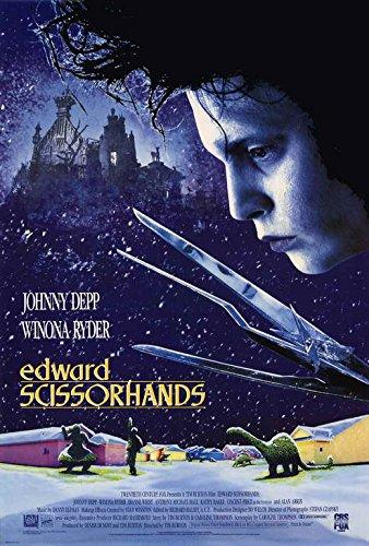 Edward Scissorhands Movie Poster Johnny Depp, Winona Ryder, Made In The U.S.A