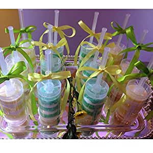 Cake Push Cylinder/Cake Push Pop Containers with Lids for Party or Celebrations (24)