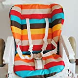 KLY - waterproof baby Stroller Cushion Pad Pram Padding Liner/Car Seat Pad Rainbow