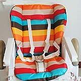 KLY - waterproof baby Stroller Cushion Pad Pram Padding Liner/Car Seat Pad Rainbow