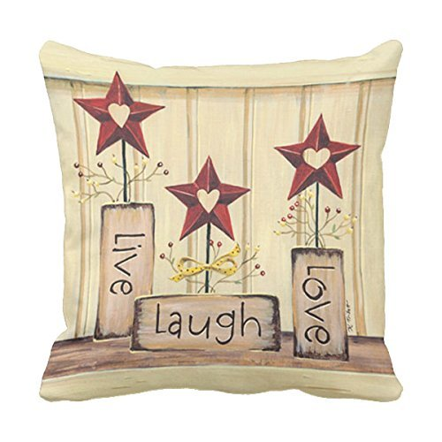 18x18 Inch Pillow Case by Provenz Live Love Laugh Life gv582