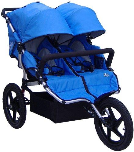 Tike Tech Double All Terrain X3 Sport Stroller, Pacific Blue