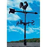 Whitehall Products Rooster Accent Weathervane, 30-Inch, Black