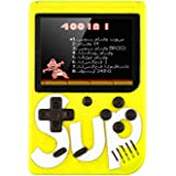 Sup Game Box 400 in 1 Games Retro Portable Mini Handheld Game Console 3.0 Inch Kids Game Player (Yellow)