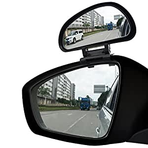 Amazon Com Ampper Blind Spot Mirror Convex Rear View Add