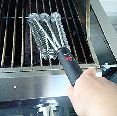Kona Best BBQ Grill Brush - Safely Cleans Cast Iron, Porcelain, IR, All Grill Grates - Stainless Steel Cleaning Bristles (Seafoam, 1 Pack) by Nickle's Arcade LLC