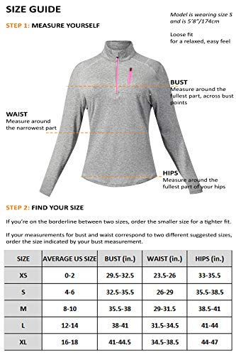 Liberty Imports Pack of 3 Women's Quarter Zip Pullovers, Athletic Long Sleeve Running Shirts