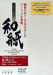Awagami Kozo Thin White Fine Art Inkjet Paper, 70gsm A3 (11.69\