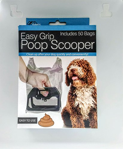 Kole Imports Easy Grip Poop Scooper with Bags – Box of 50