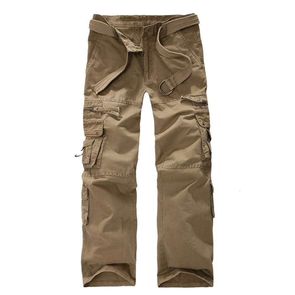 Molarepi Mens Cotton Casual Cargo Pants Camo Combat Work Pants with 8 Pocket
