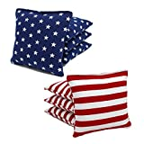 8 All Weather Cornhole Bags Stars and Stripes by Free Donkey Sports