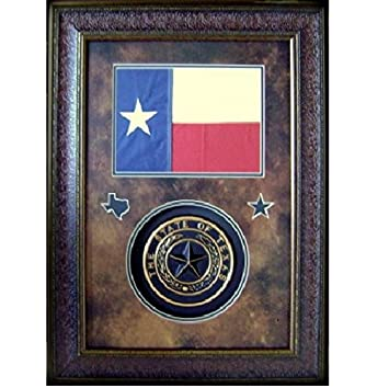 Amazon.com: Texas Flag U0026 Texas Seal Wall Art Decor Rustic Western Framed Art:  Wall Art
