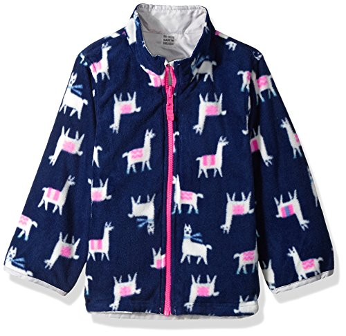 Carter's Little Girls' 4 in 1 Heavyweight Systems Jacket, Pink Llamas, 5/6 by Carter's (Image #4)